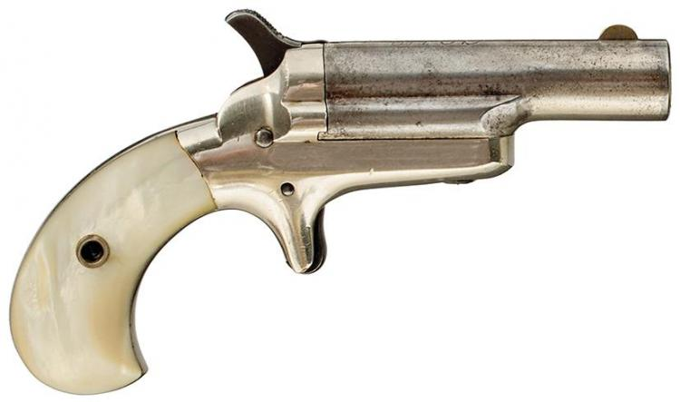 A  41 RIMFIRE OBSOLETE CALIBRE COLT THIRD MODEL DERINGER, 2 5inch